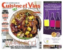 Publication dans le magazine Cuisine et Vins de France